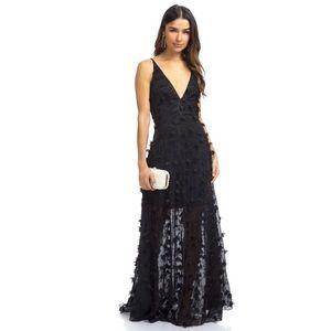 Dress The Population Fleur Black Lace Gown